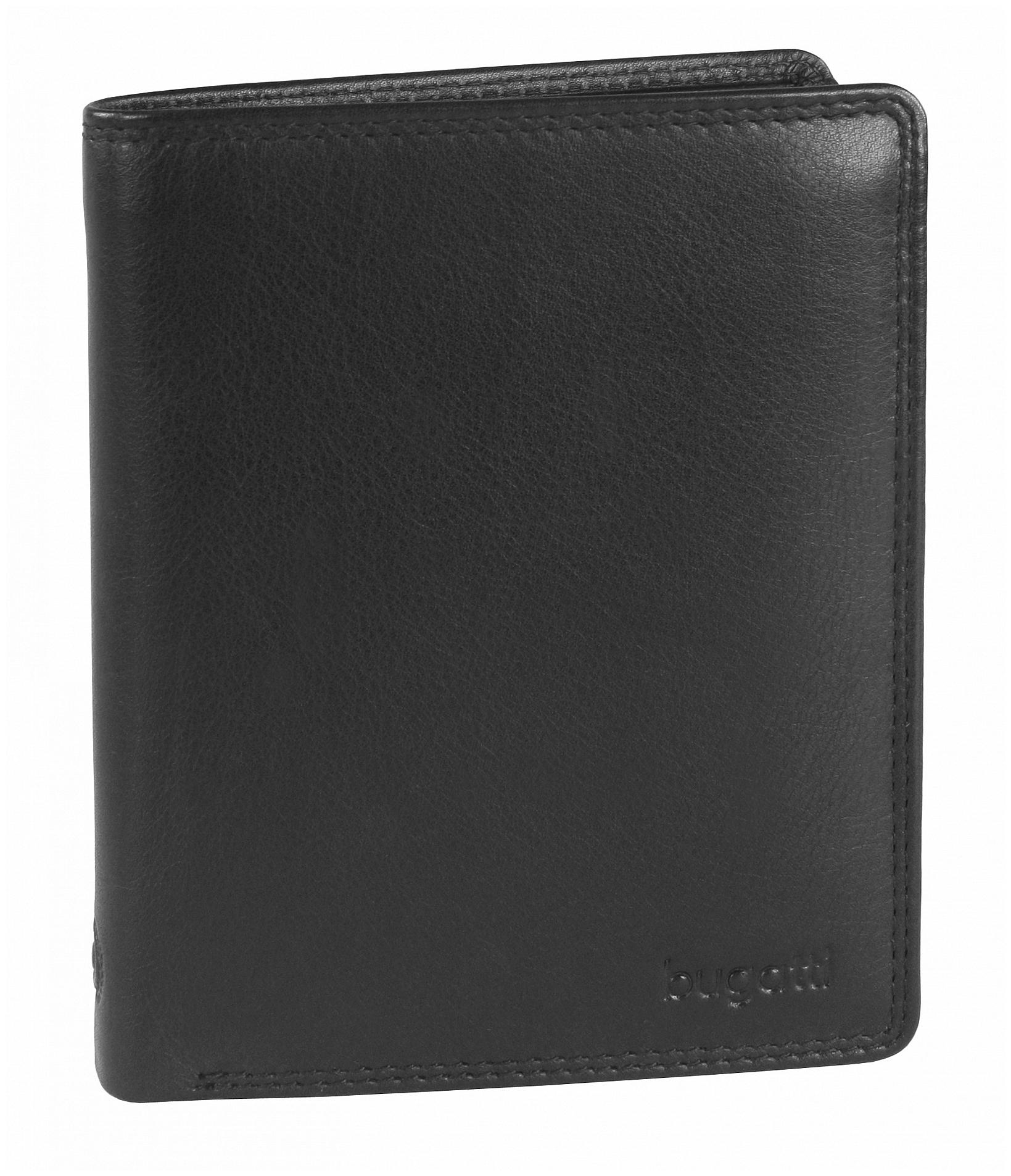 Bugatti Pánská kožená peněženka Simbiosi 49317001 černá