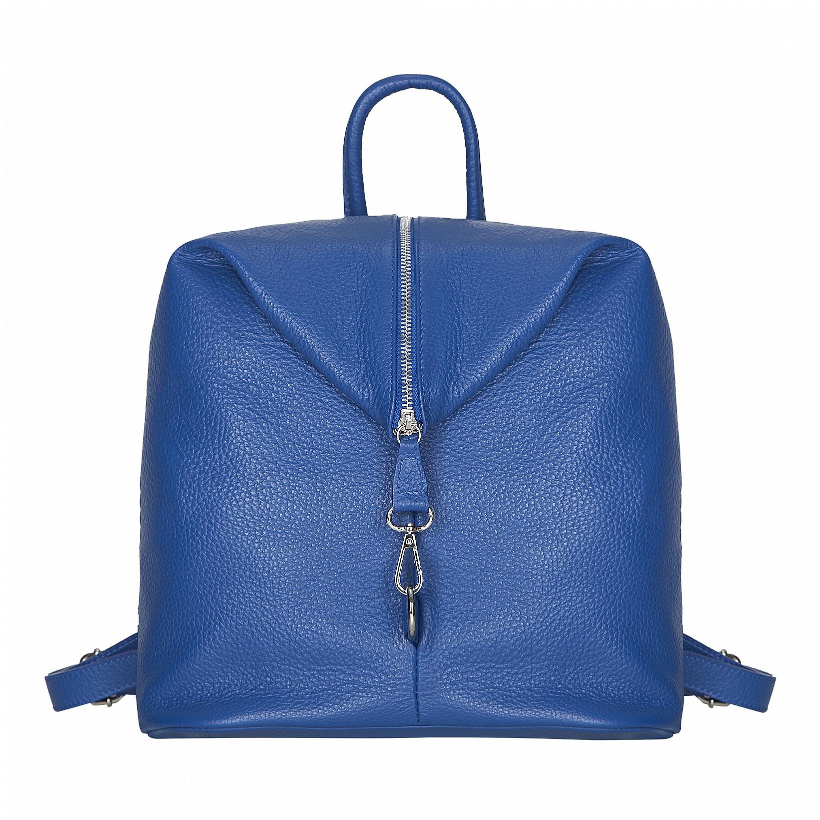 ESTELLE Dámský kožený batoh 1252 modrý