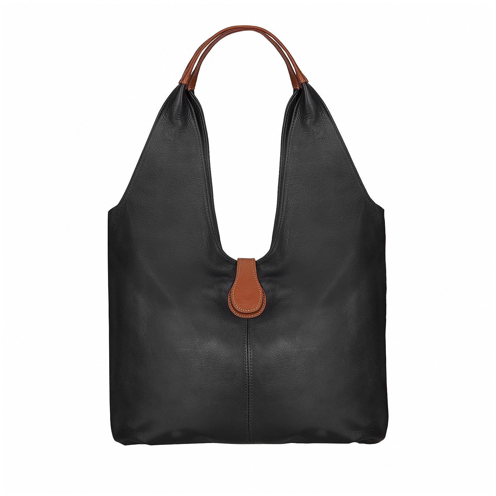 ESTELLE Dámská kožená shopper kabelka 1381-06 černá