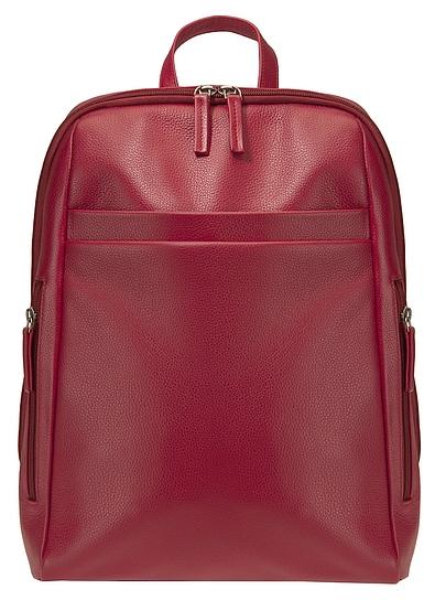 ESTELLE Kožený batoh na formát A4 0965 červený