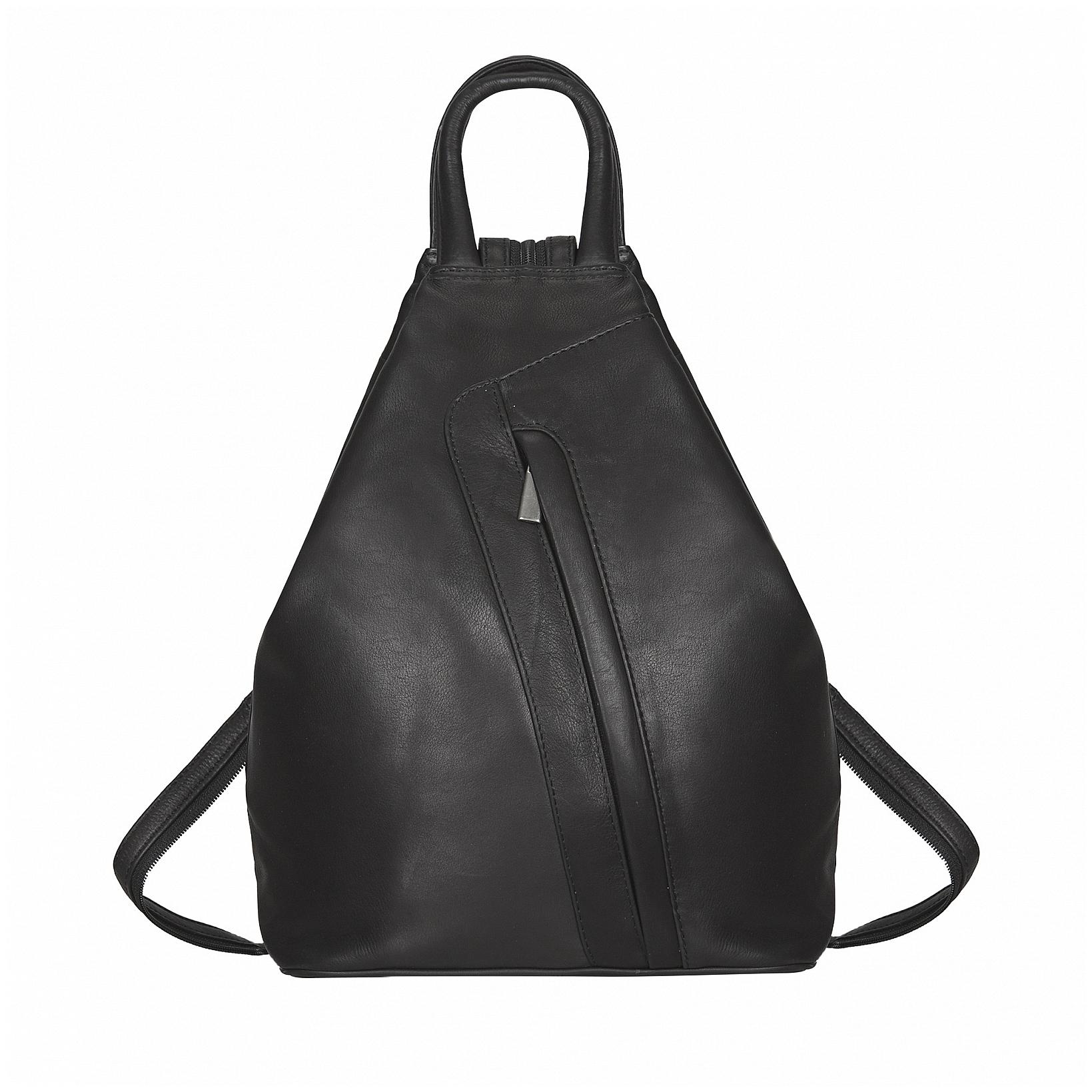 ESTELLE Kožený batůžek do města 0999 černý