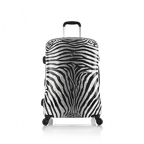 Heys Skořepinový kufr Zebra M 13077-3040-26 bílá-černá