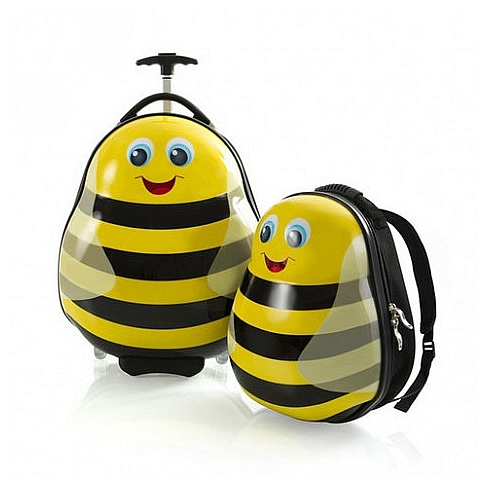 Heys Dětská sada batohu a kufru Travel Tots Lightweight Kids Bumble Bee 13030-3086-00 žlutá