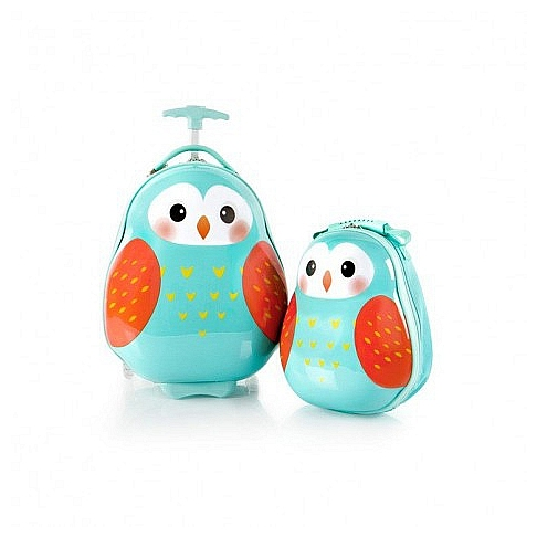 Heys Dětská sada batohu a kufru Travel Tots Lightweight Kids Owl 13030-3170-00 modrá