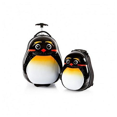 Heys Dětská sada batohu a kufru Travel Tots Lightweight Kids Emperor Penguin 13030-3169-00 bílá/černá