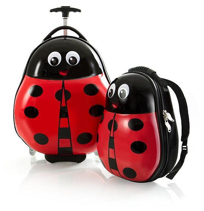 Heys Dětská sada batohu a kufru Travel Tots Lightweight Kids Lady-Bug 13030-3087-00 červená/černá