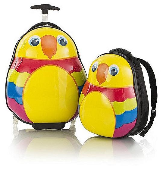Heys Dětská sada batohu a kufru Travel Tots Lightweight Kids Parrot 13030-3014-00 barevný