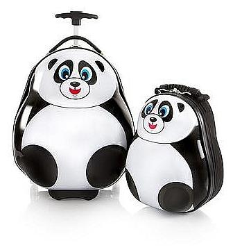 Heys Dětská sada batohu a kufru Travel Tots Lightweight Kids Panda 3171-00 bílá/černá