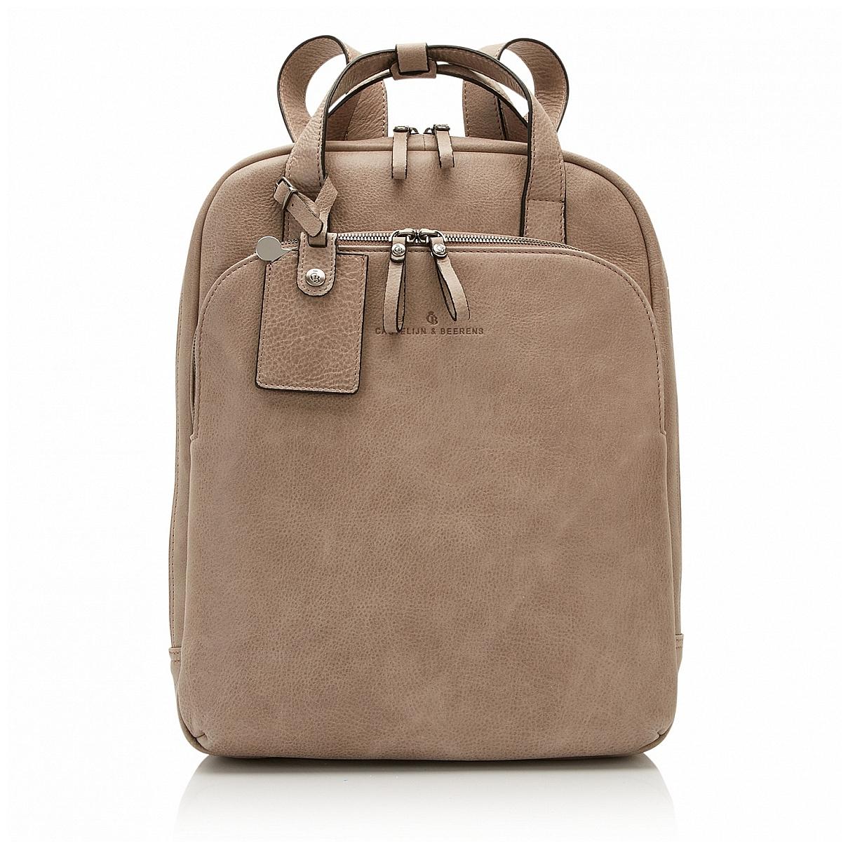 Castelijn & Beerens Elegantní kožený batoh na notebook 729577 šedý