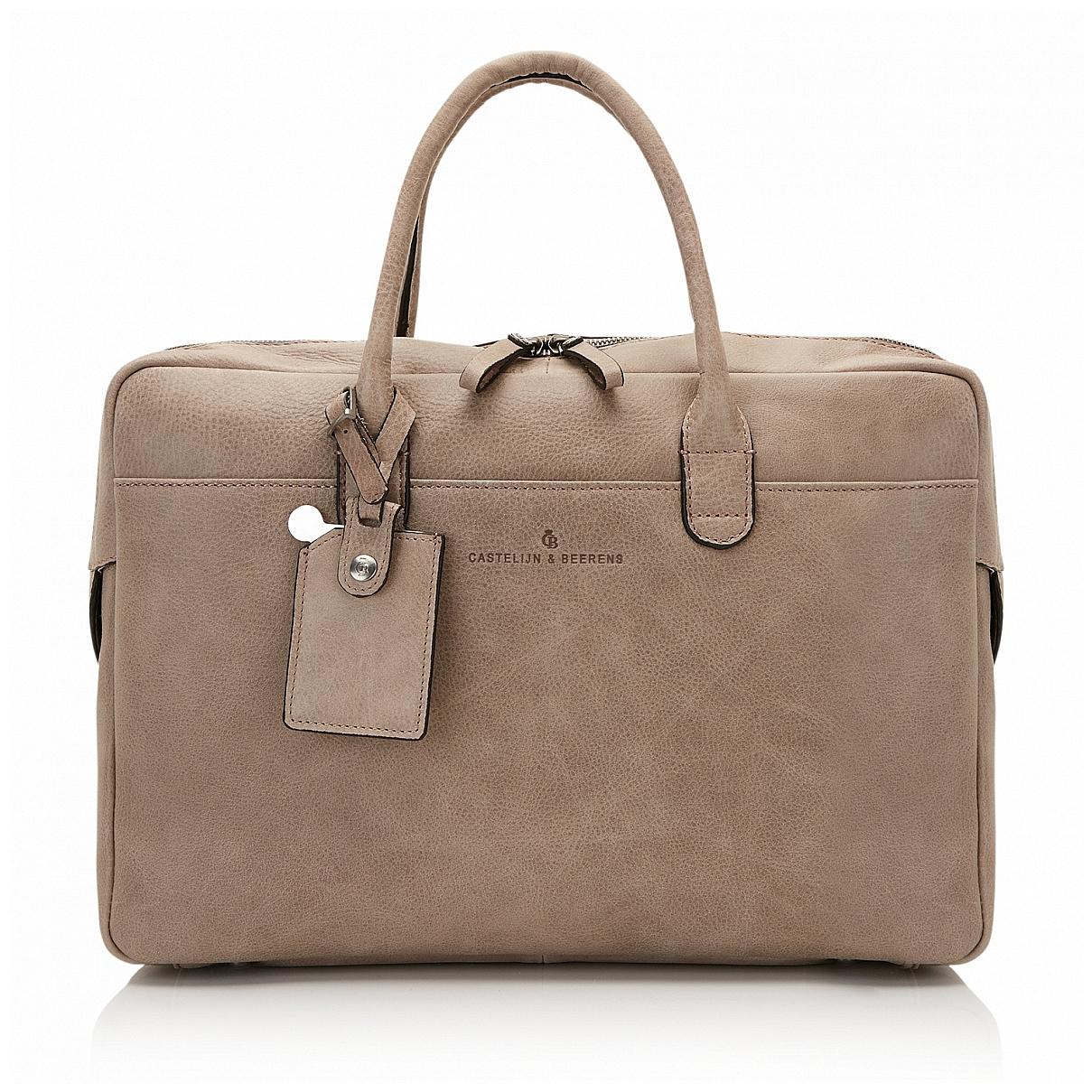 Castelijn & Beerens Kožená taška na notebook a tablet 729478 GS šedá