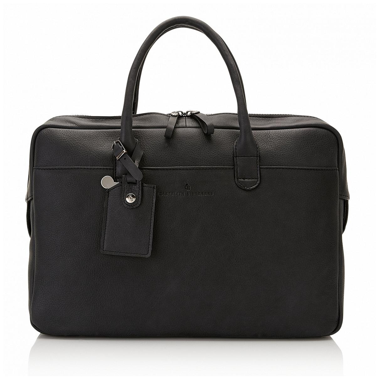 Castelijn & Beerens Kožená taška na notebook a tablet 729478 ZW černá