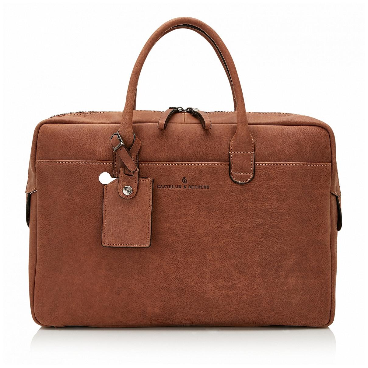 Castelijn & Beerens Kožená taška na notebook a tablet 729478 CO koňak