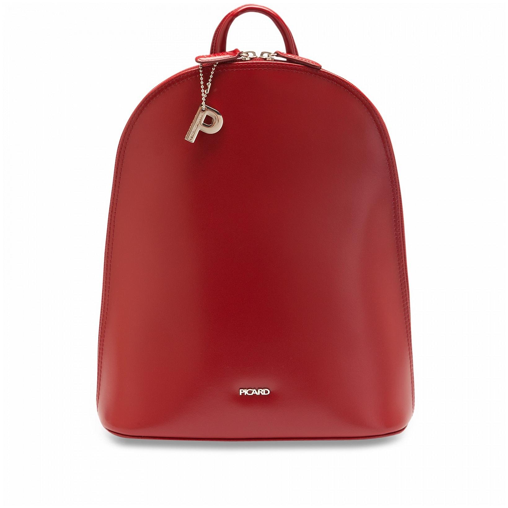PICARD Elegantní kožený batoh do města BERLIN 4624 červený