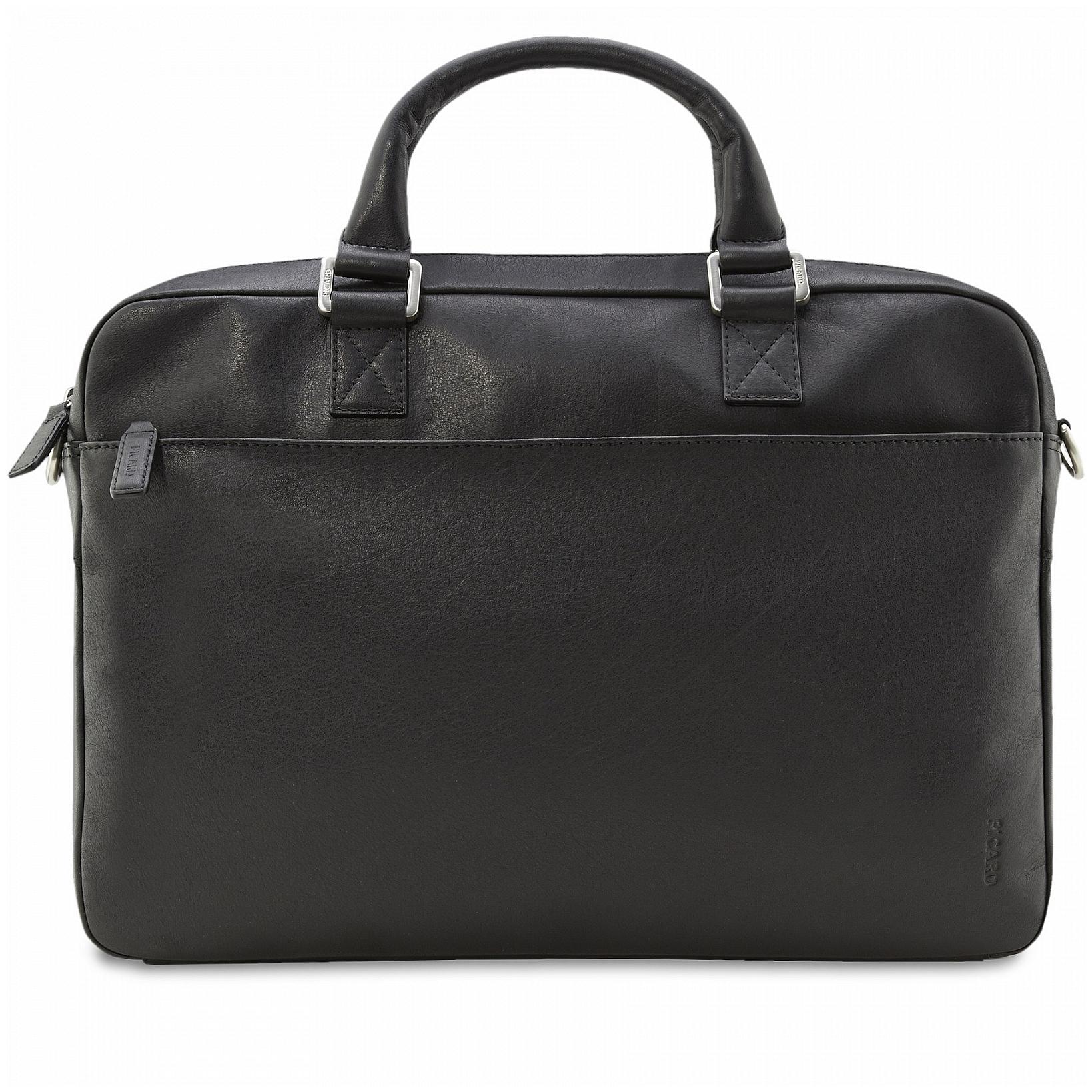 PICARD Kožená taška na notebook ROCKET 4259 černá