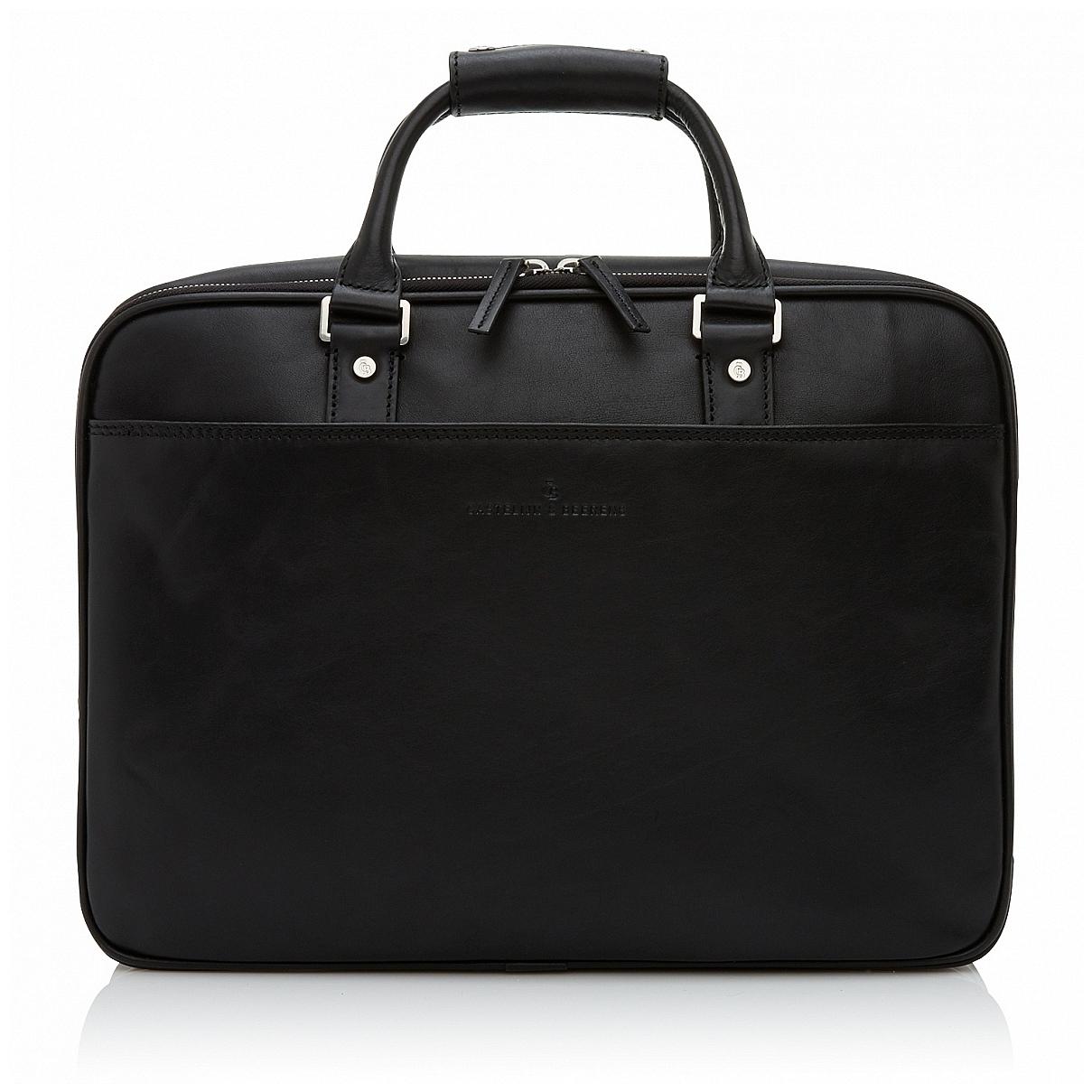 Castelijn & Beerens Kožená taška na notebook a tablet 689476 černá