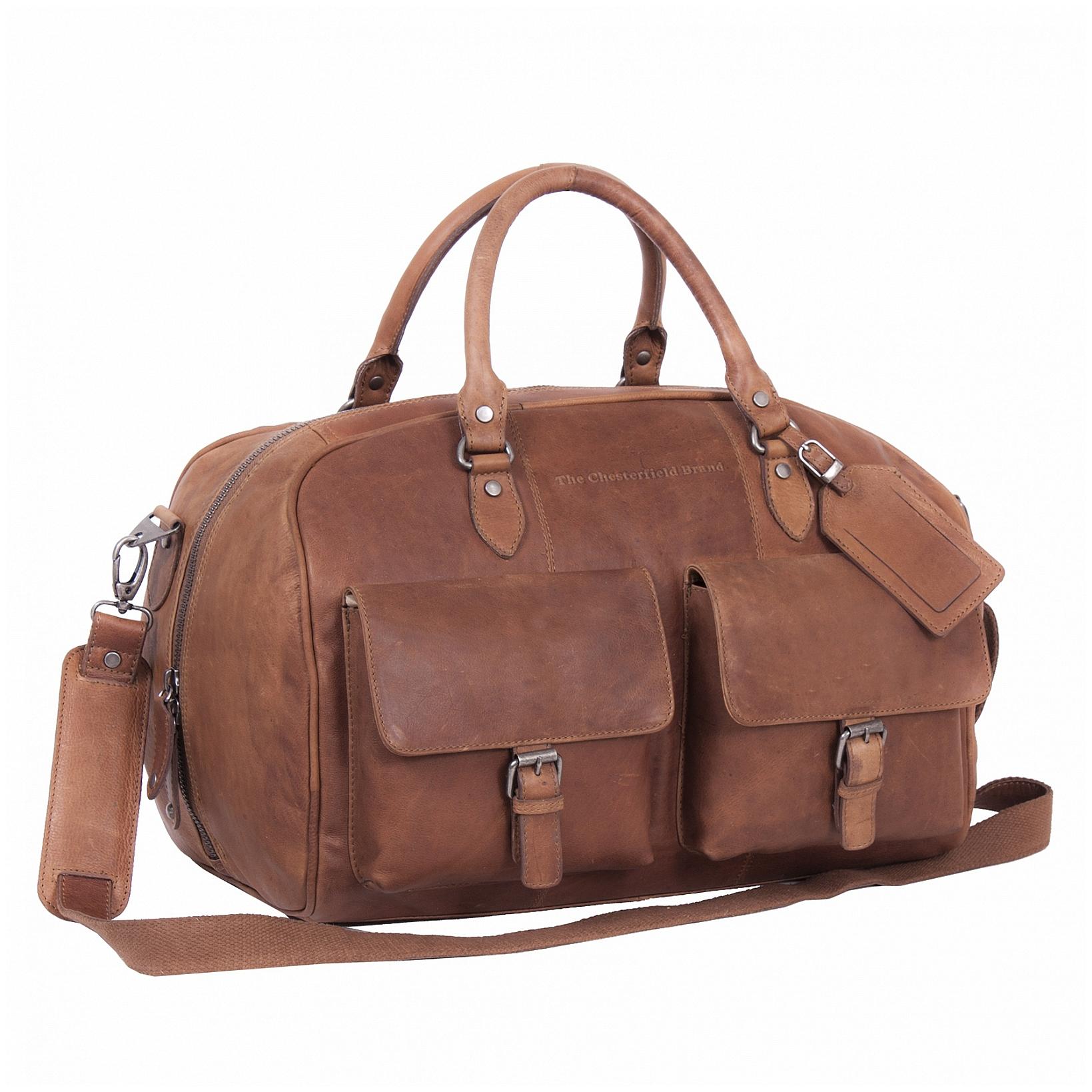 The Chesterfield Brand Kožená cestovní taška - weekender C20.001531 Wyatt koňak