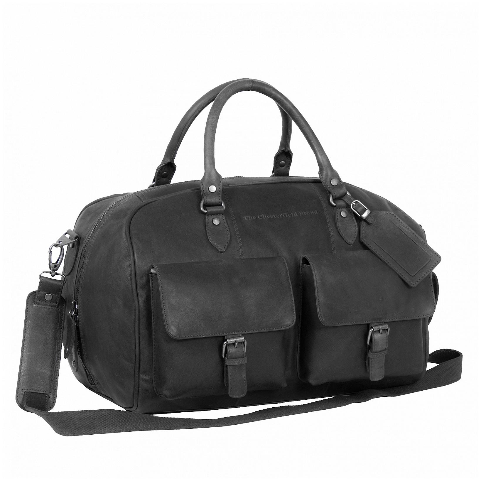 The Chesterfield Brand Kožená cestovní taška - weekender C20.001500 Wyatt černá