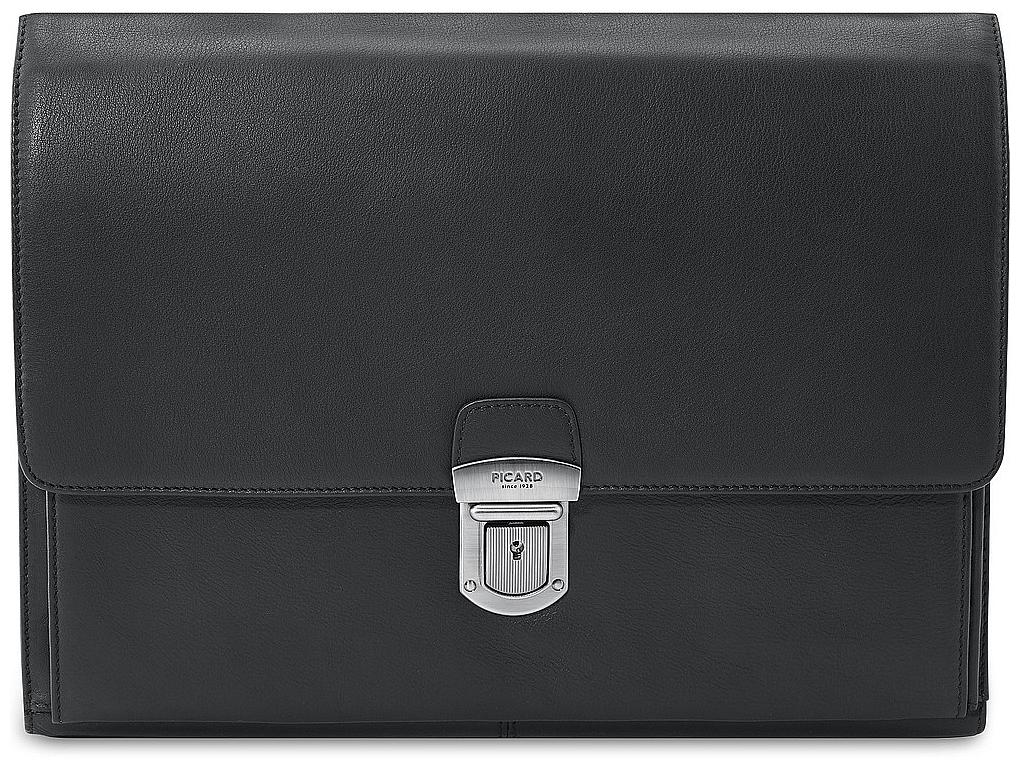 PICARD Kožené konferenční desky A4 RETRO 8902 černé