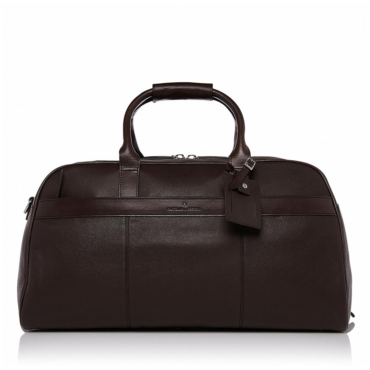 Castelijn & Beerens Elegantní kožená cestovní taška RFID 699320 VIVO hnědá