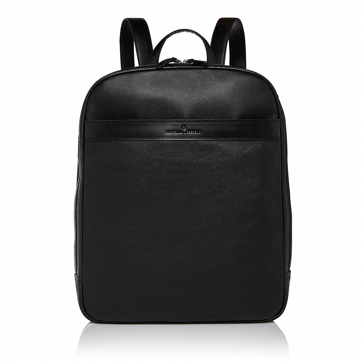 Castelijn  amp  Beerens Elegantní kožený batoh na notebook 699576 VIVO černý 465a3d4f9f