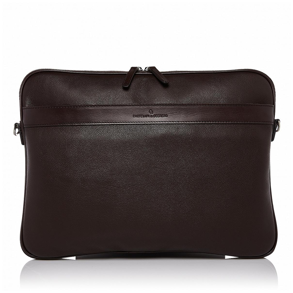 """Castelijn & Beerens Kompaktní taška na notebook 15,6"""" RFID 699148 VIVO hnědá"""