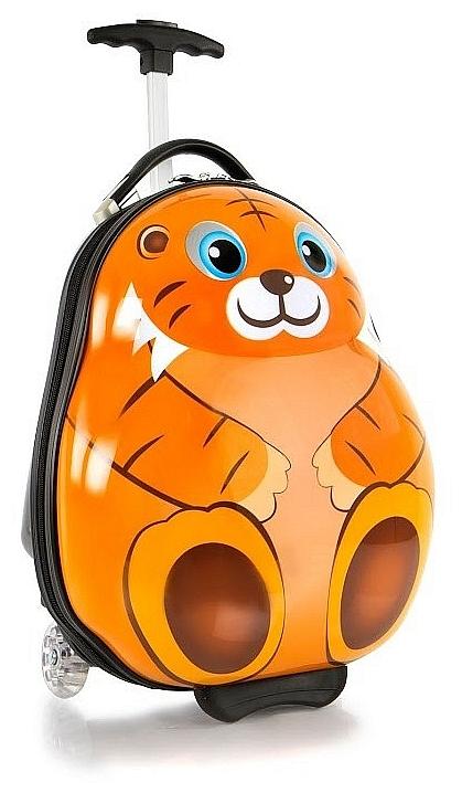 Heys Dětský skořepinový kufr na kolečkách Travel Tots Lightweight Kids Tiger 13091-3043-00 oranžový