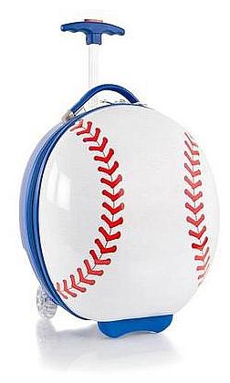 Heys Dětský skořepinový kufr na kolečkách Kids Sports Luggage Baseball 13092-3801-00 bílá/mo