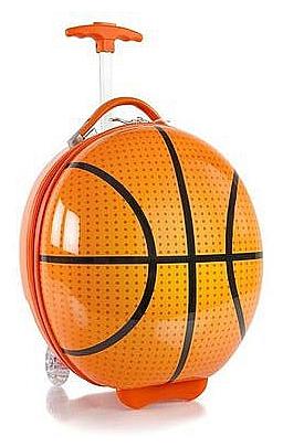 Heys Dětský skořepinový kufr na kolečkách Kids Sports Luggage Basketball 13092-3802-00 oranžo