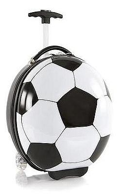 Heys Dětský skořepinový kufr na kolečkách Kids Sports Luggage Fotbal 13092-3800-00 bílá/čer