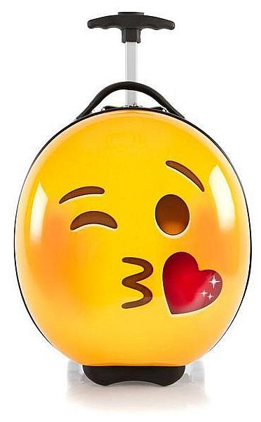 Heys Dětský skořepinový kufr na kolečkách e-Motion Kids Luggage Kiss 13093-3700-00 žlutá/če