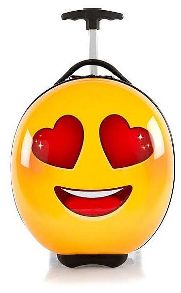 Heys Dětský skořepinový kufr na kolečkách e-Motion Kids Luggage Love 13093-3701-00 žlutá/če