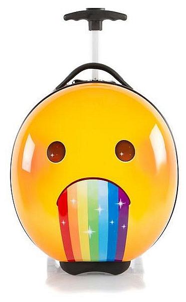 Heys Dětský skořepinový kufr na kolečkách e-Motion Kids Luggage Rainbow 13093-3703-00 žlutá/