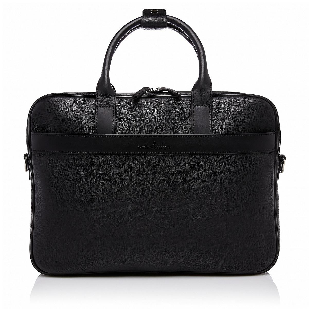 """Castelijn & Beerens Kožená taška na notebook 15,6"""" RFID 699472 VIVO černá"""