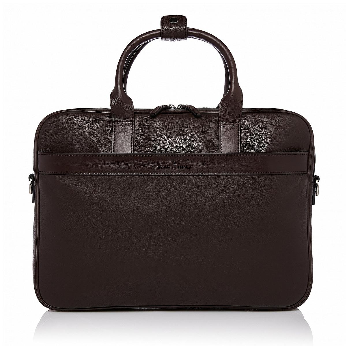 """Castelijn & Beerens Kožená taška na notebook 15,6"""" RFID 699472 VIVO hnědá"""