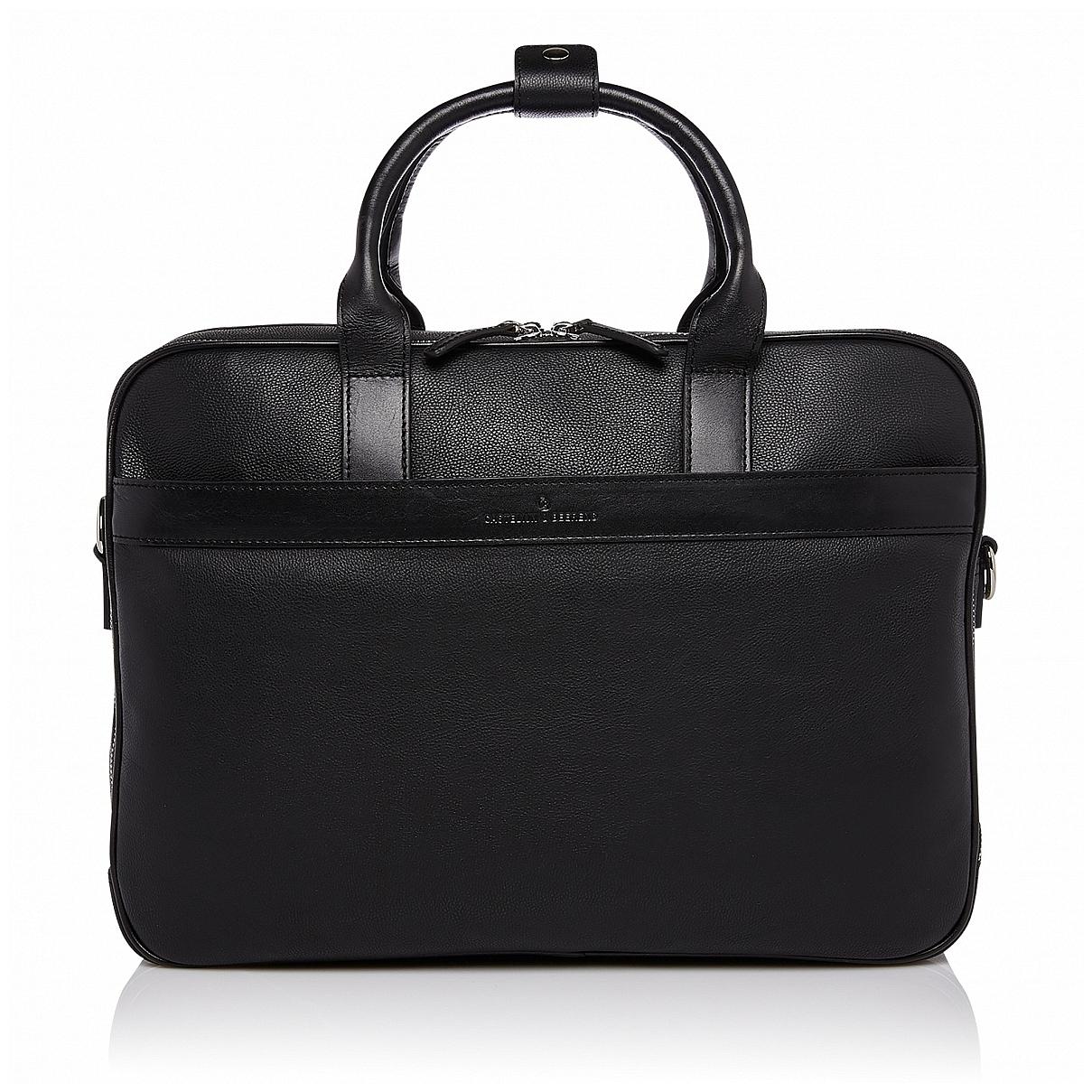 """Castelijn & Beerens Prostorná kožená taška na notebook 15,6"""" RFID 699476 VIVO černá"""