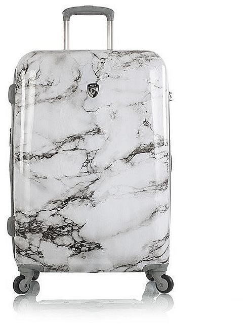Heys Elegantní skořepinový kufr Bianco M 13083-3167-26 černo-bílý