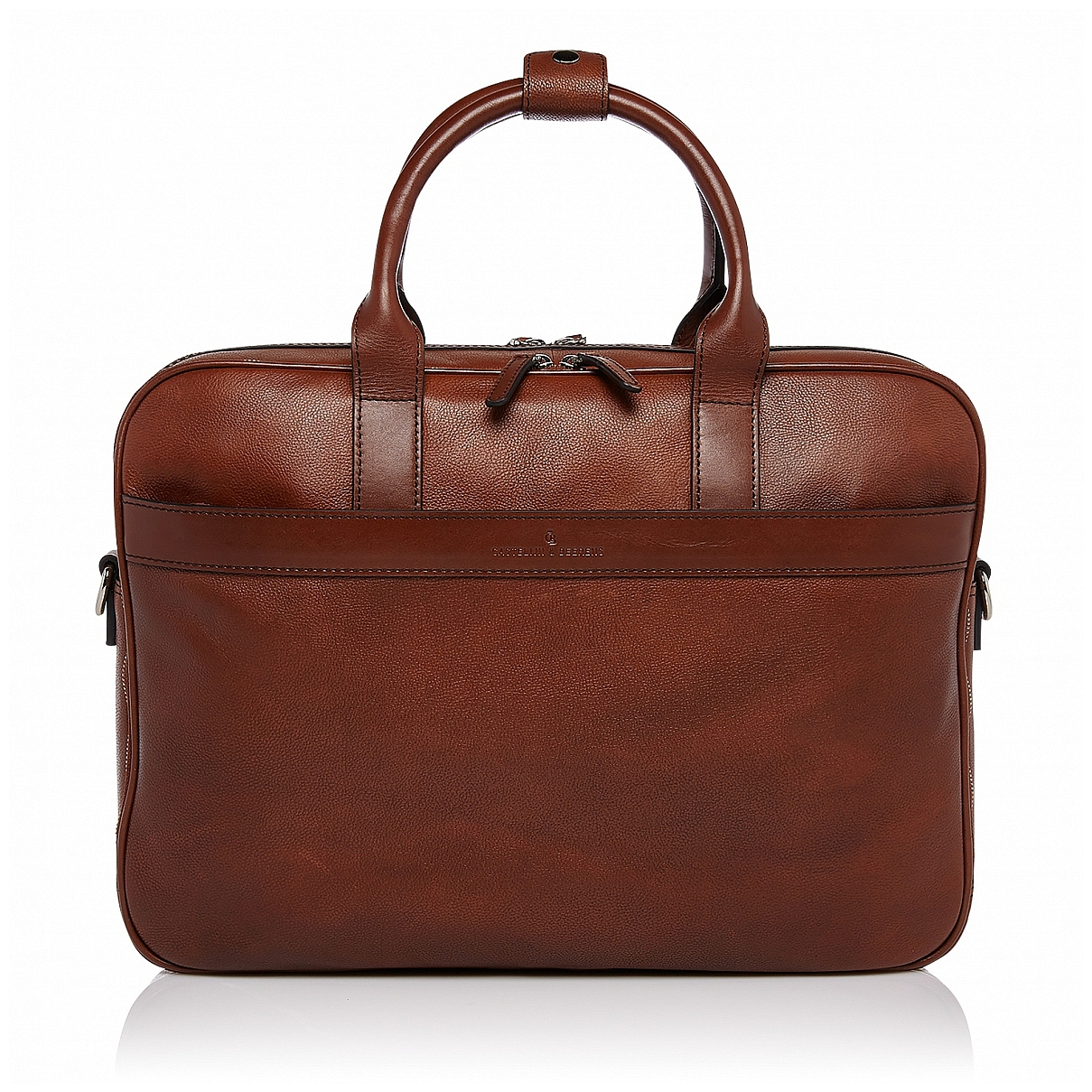 """Castelijn & Beerens Prostorná kožená taška na notebook 15,6"""" RFID 699476 VIVO koňak"""