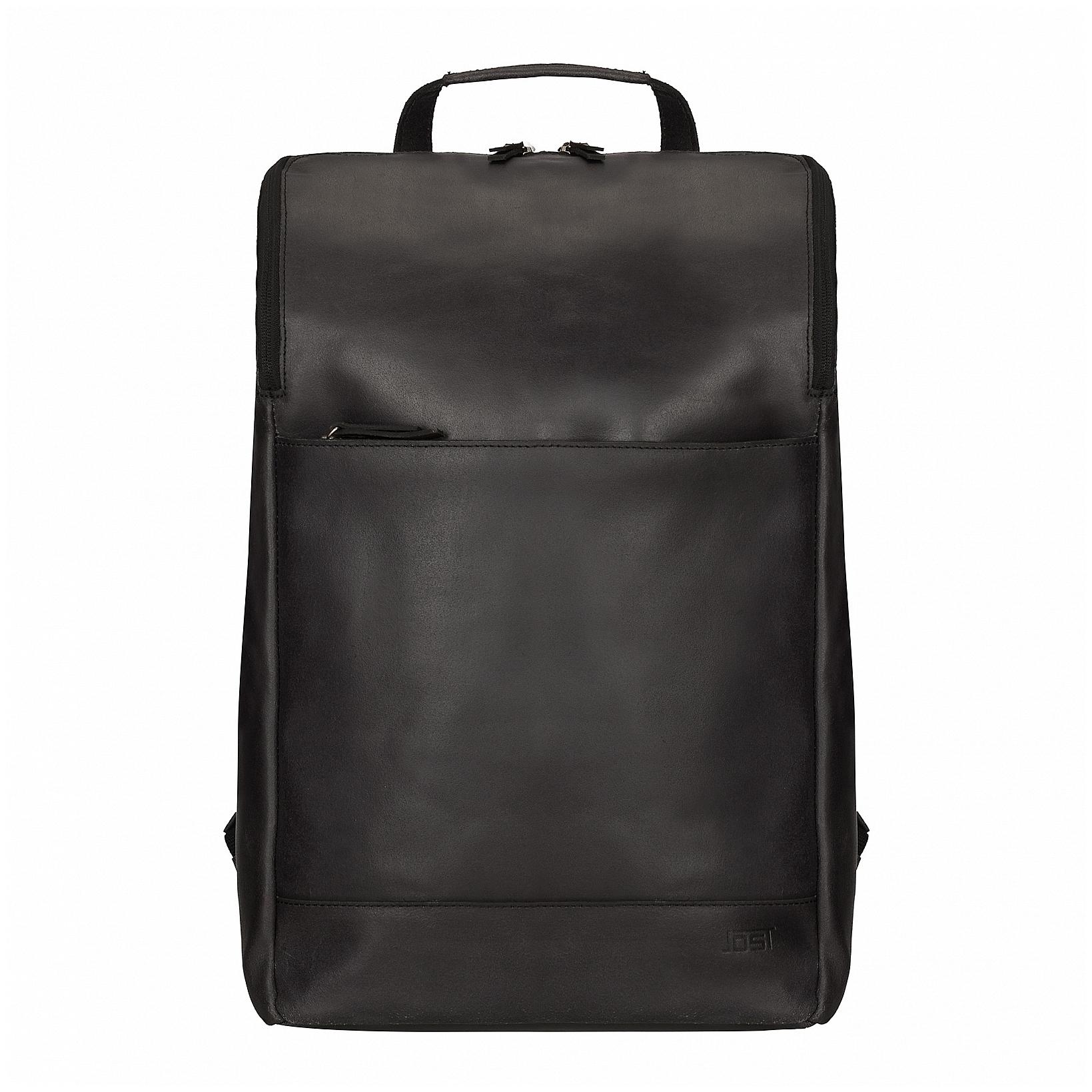 3f1d97902e JOST Kožený batoh na notebook NARVIK 1349 černý