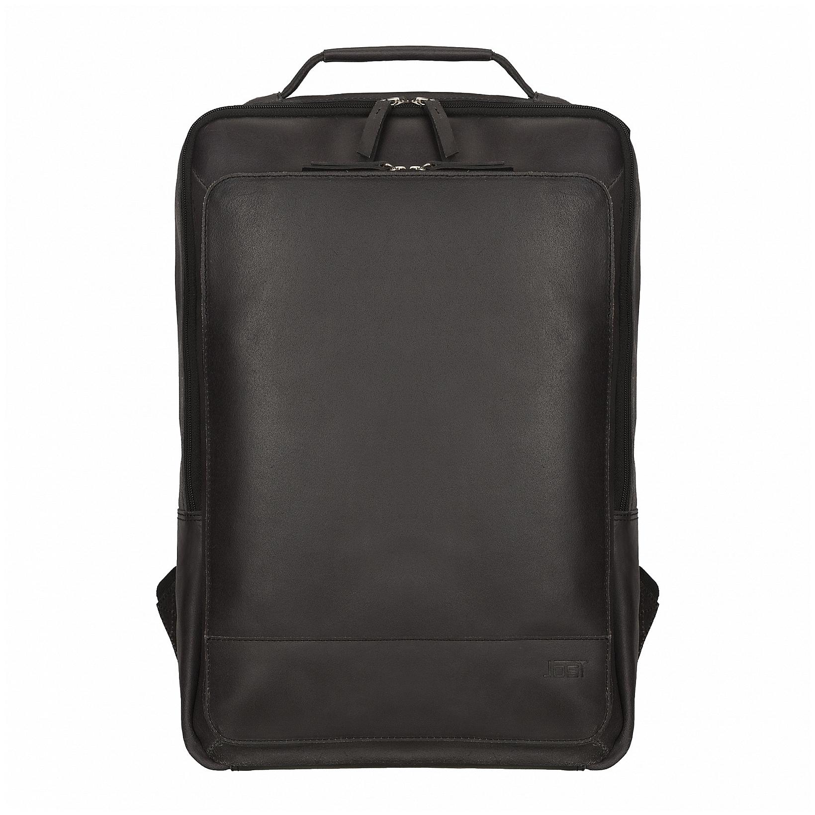JOST Kožený batoh na notebook NARVIK 1348 černý a2c1297aed