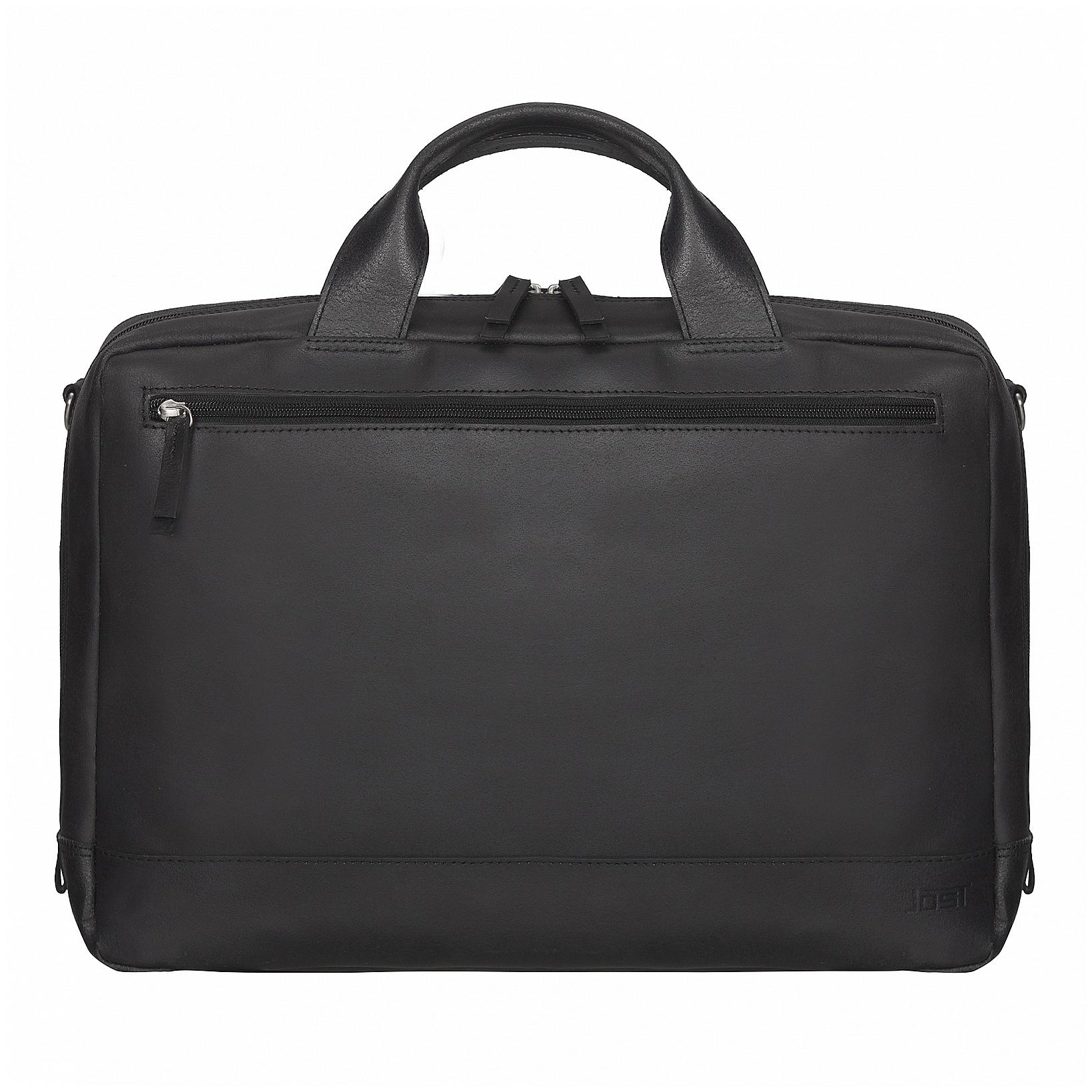 JOST Kožená taška na notebook NARVIK 1343 černá