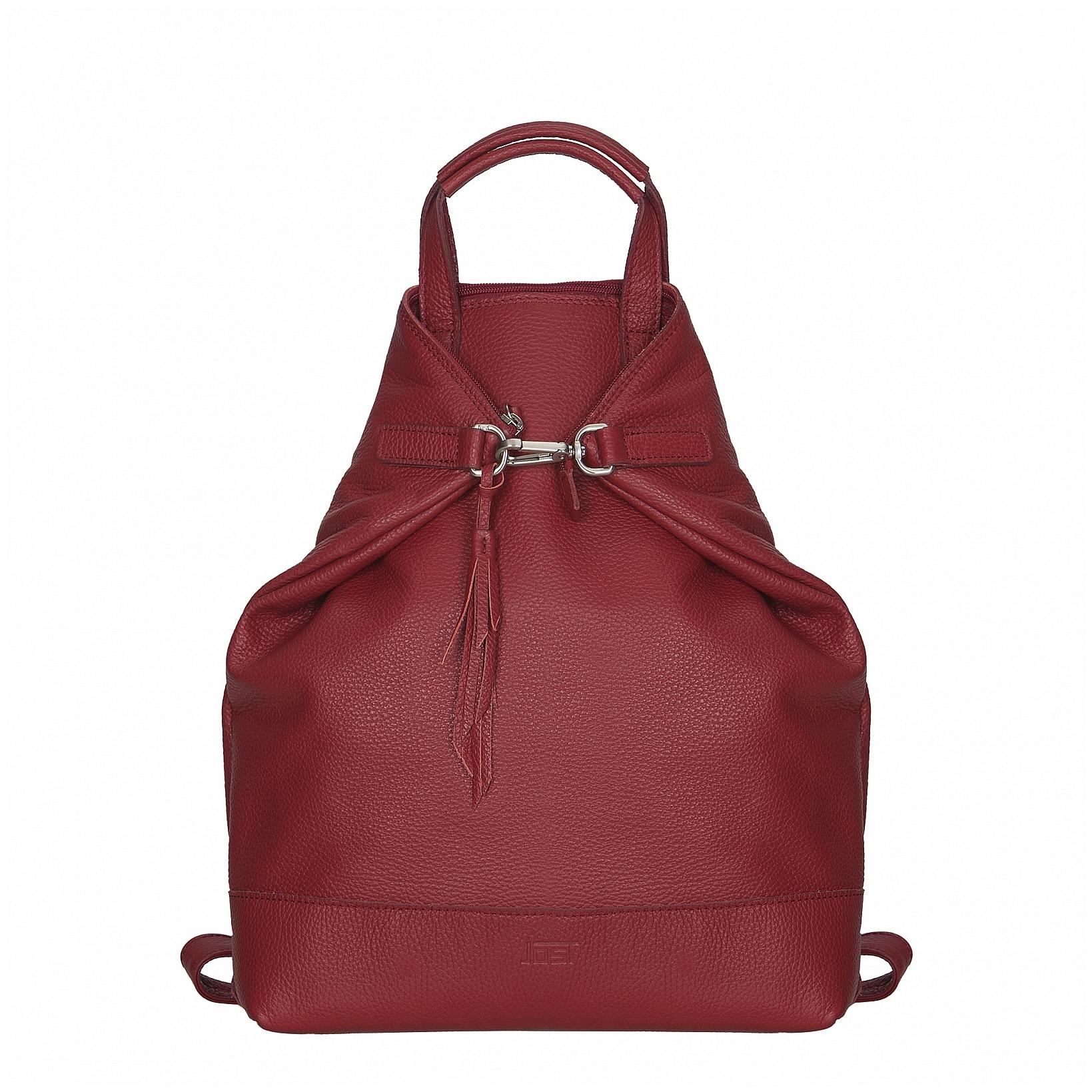JOST Dámský kožený batoh - kabelka VIKA 1910 X-Change 3in1 červený
