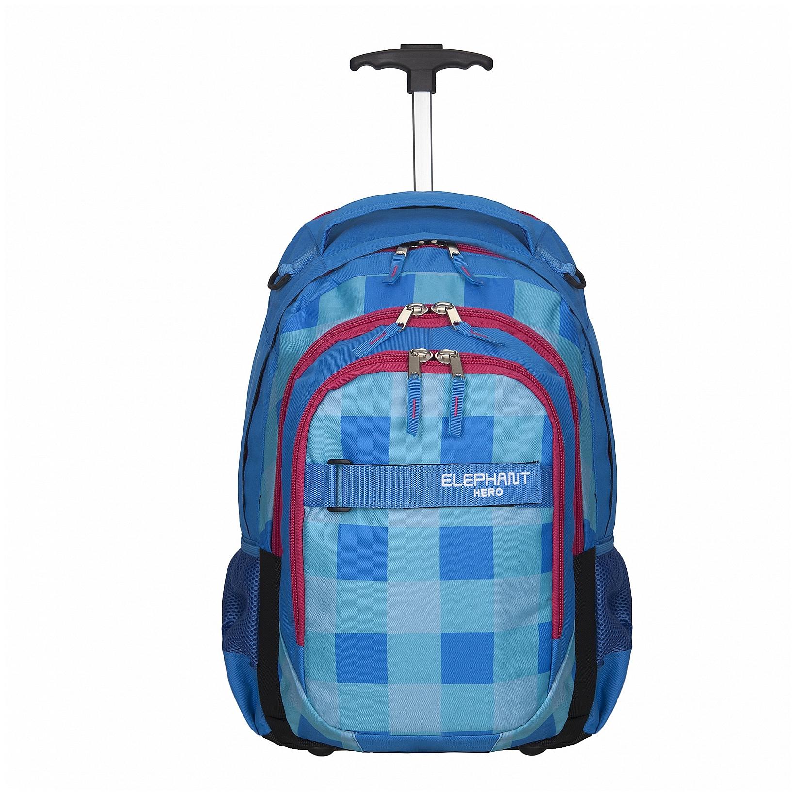 Elephant Školní batoh na kolečkách 12610 Elephant Hero modro-červený