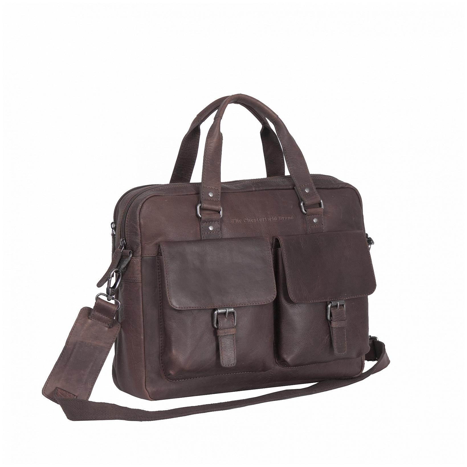 The Chesterfield Brand Kožená pracovní taška C48.077801 George hnědá 56dacf9fb24