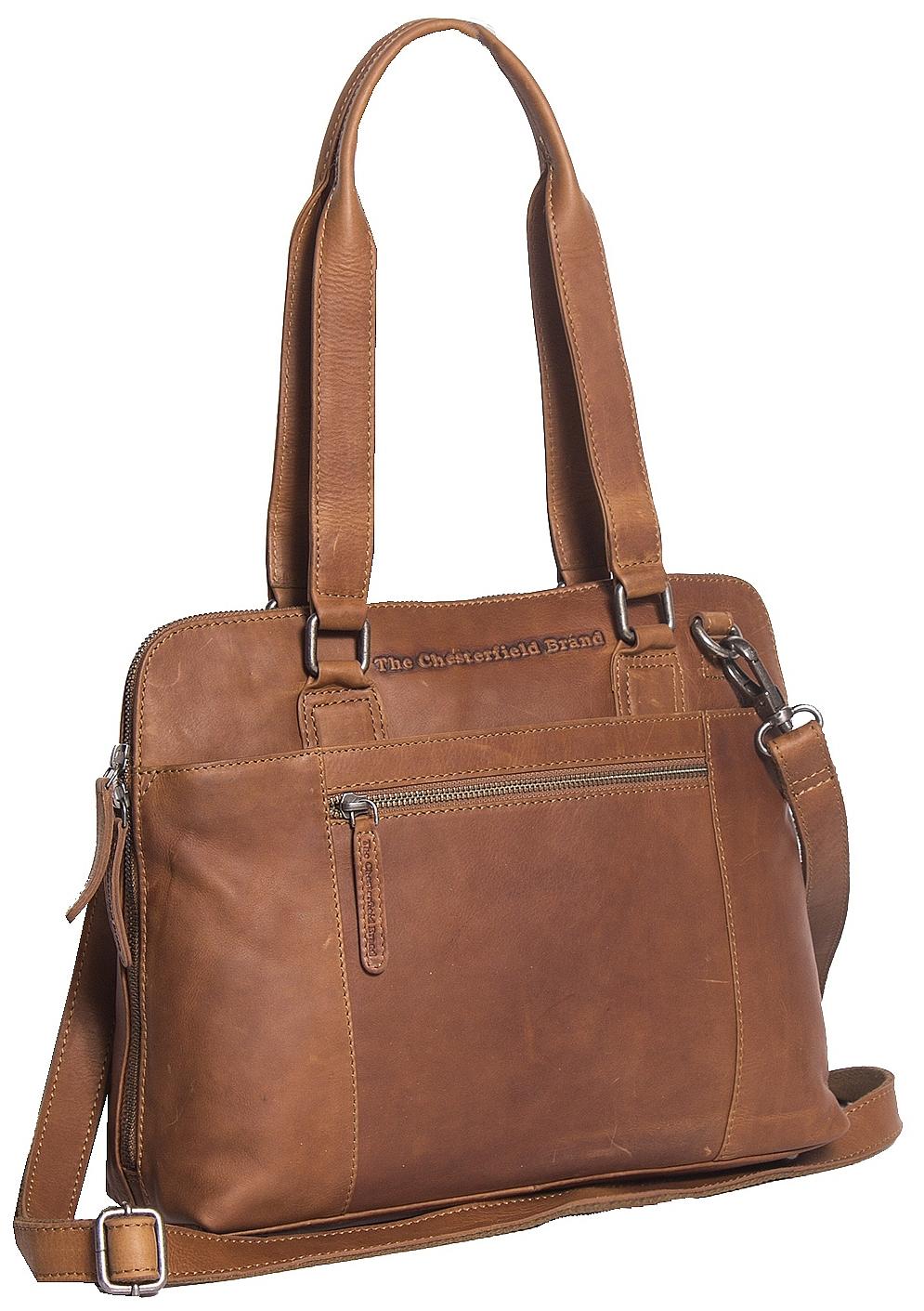 The Chesterfield Brand Dámská kožená kabelka M na notebook Cara C48.061231 koňak