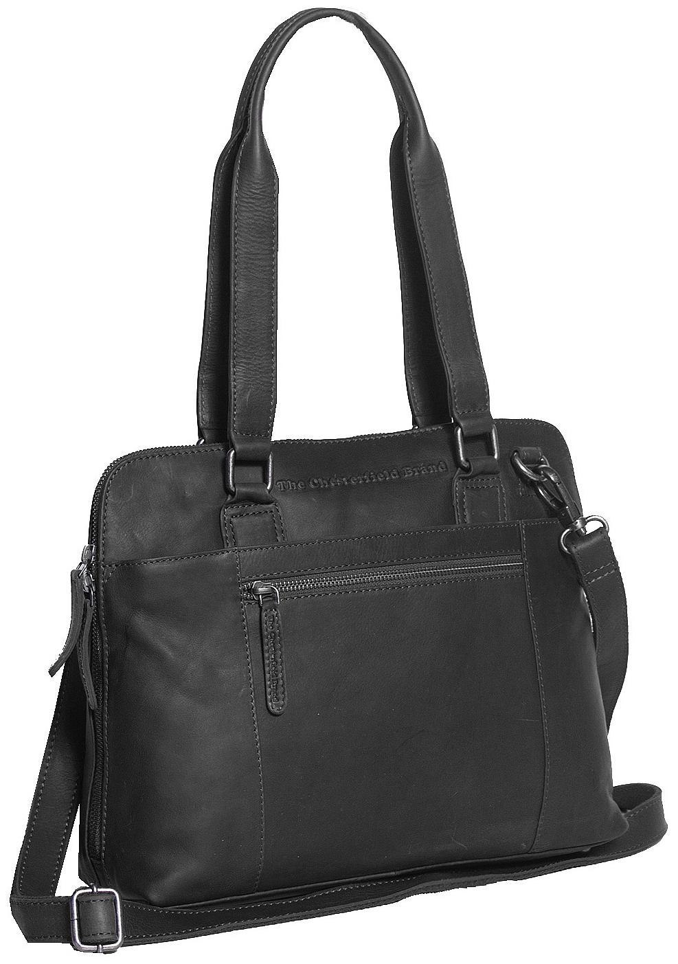 The Chesterfield Brand Dámská kožená kabelka M na notebook Cara C48.061200 černá