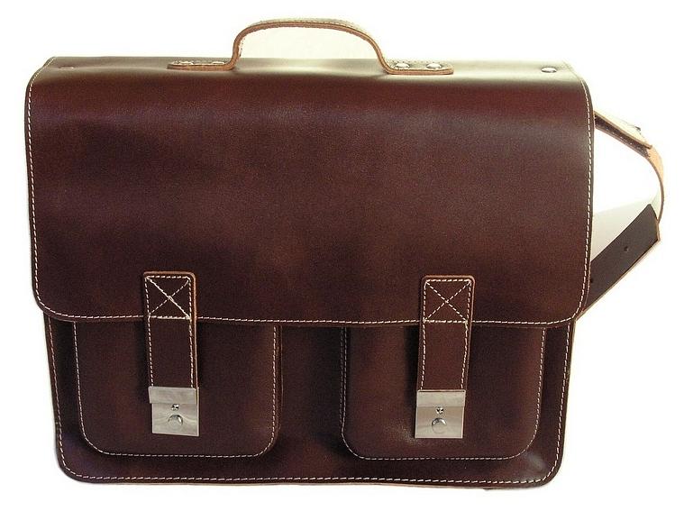 Hamosons Pánská kožená aktovka s přihrádkou na notebook 690 hnědá