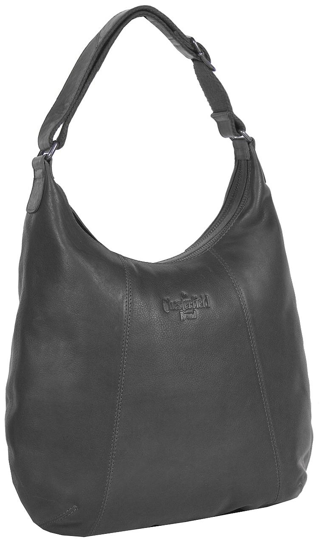 The Chesterfield Brand Kožená kabelka přes rameno Floor C48.061100 černá