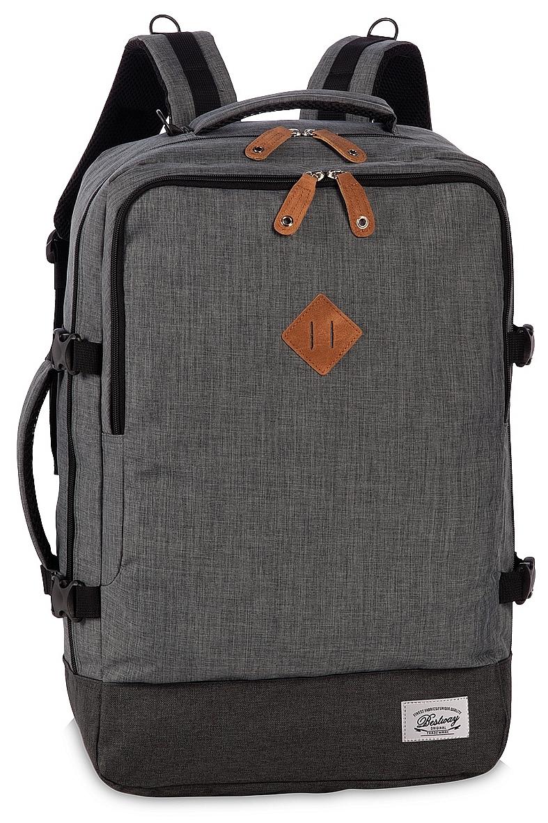 BestWay Palubní zavazadlo - palubní batoh 40223-1700 CABIN PRO RETRO šedý