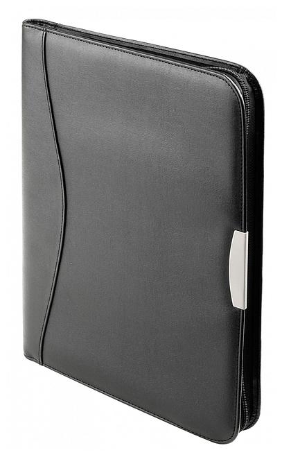 d & n Lederwaren Konferenční desky A4 s kalkulačkou 5099 černá