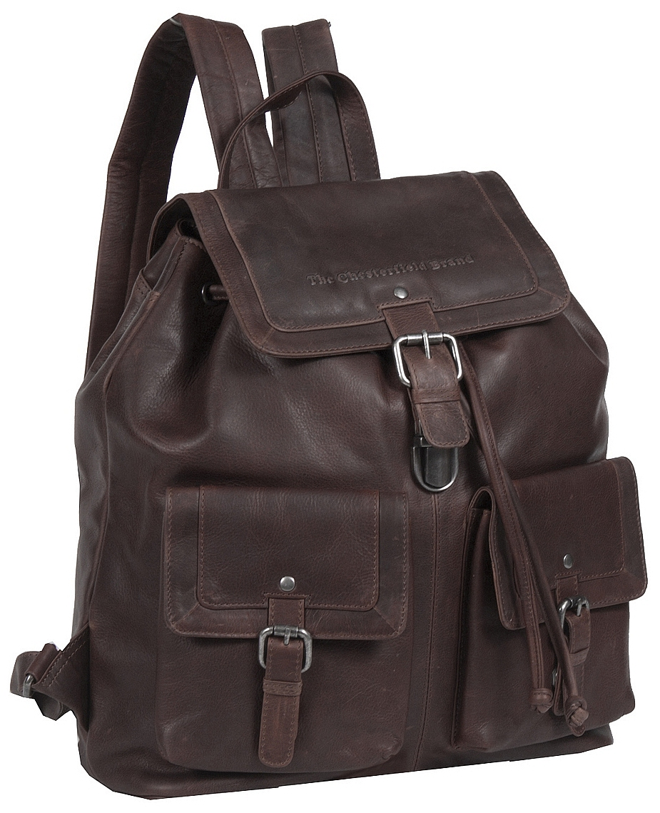 The Chesterfield Brand Velký kožený batoh s kapsami Joey C58.014601 hnědý bc65959589